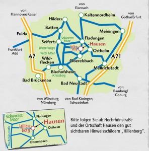 Anfahrt Hillenberg